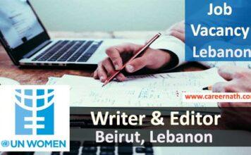 Writer and Editor Job